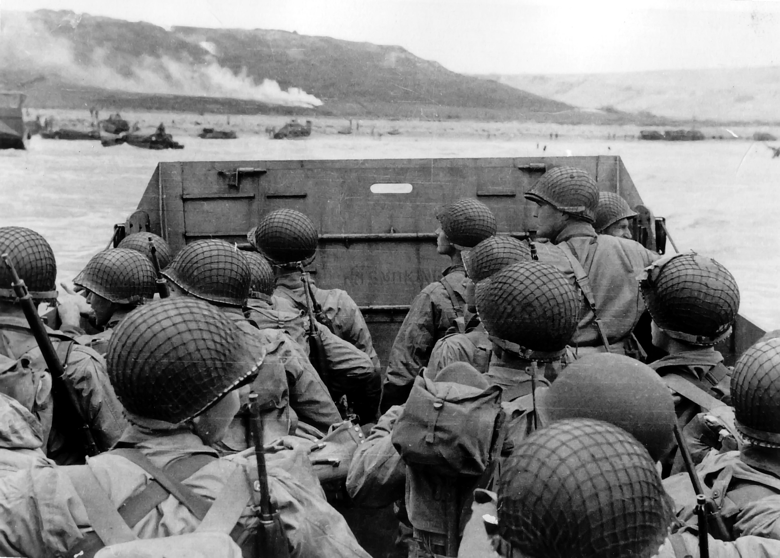 Photo Of American Troops In A Landing Craft
