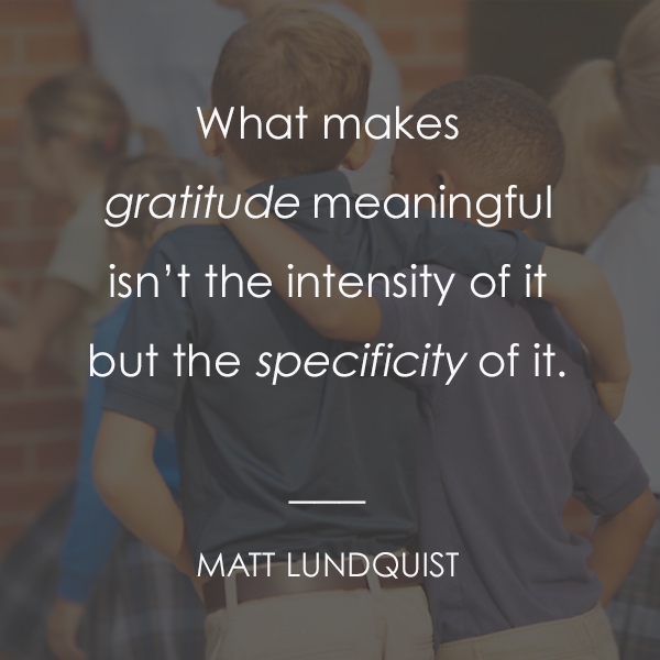 PRACTICING GRATITUDE IN FOURTH GRADE
