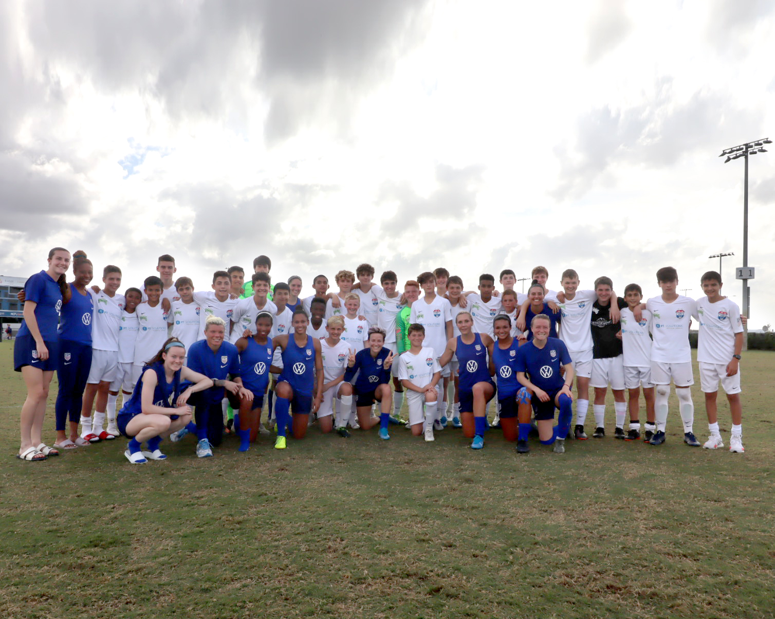 Gr. 8 Soccer Standout Scrimmages with U.S. Women's Soccer Team