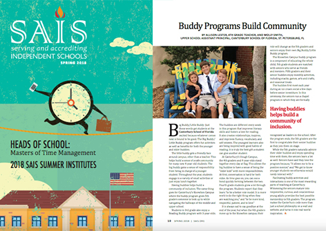 Canterbury Faculty Published in SAIS Magazine