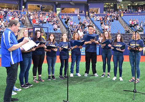 Canterbury Singers Perform the National Anthem at Rays Game