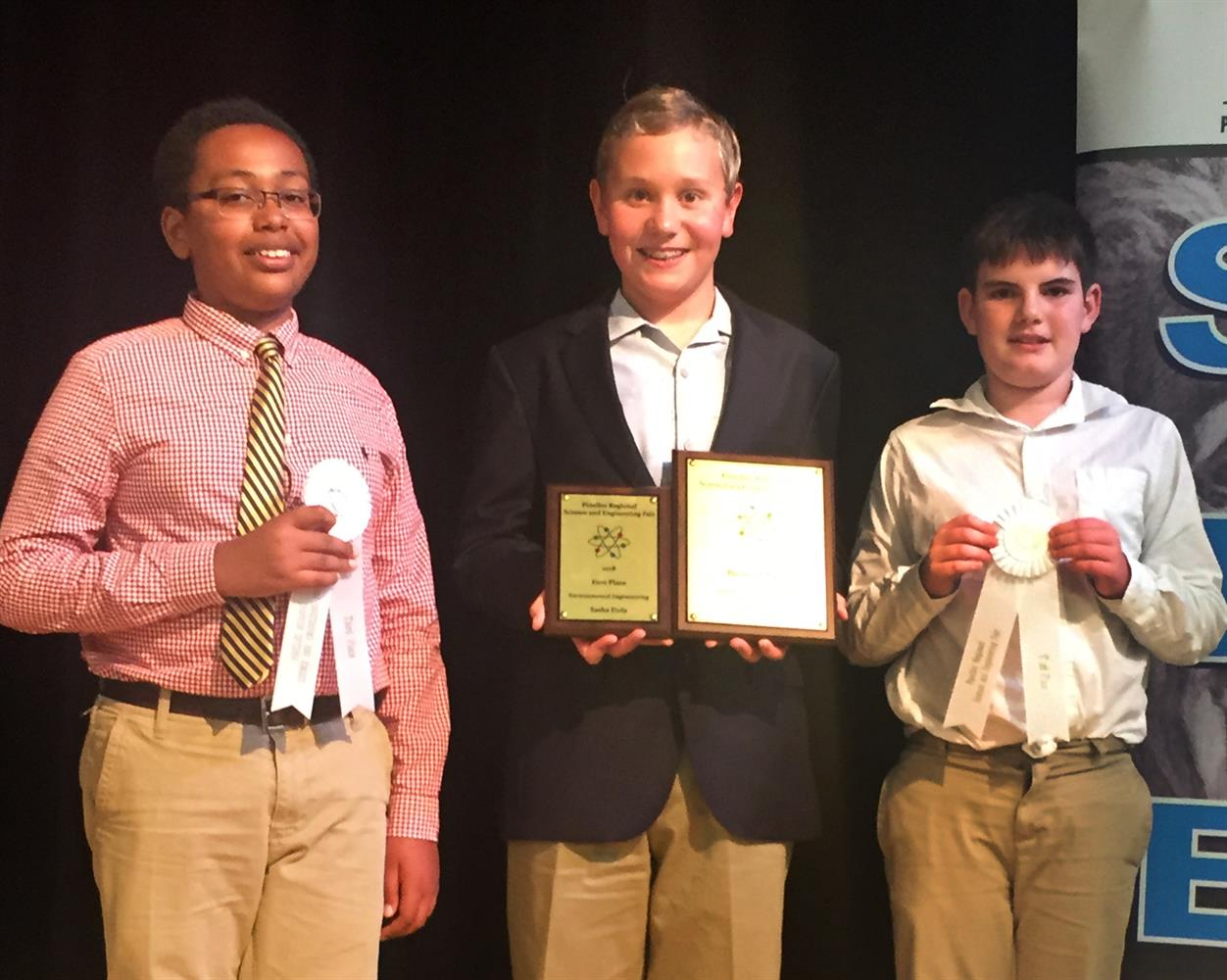Middle School Students are Big Winners at Regional Science Fair